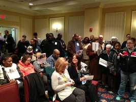 March 26: Direct care workers and client families pack Finance Committee.