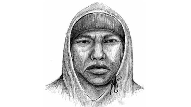 Baltimore police release a sketch of a man wanted in connection with two rapes on Mary Avenue in northeast Baltimore.