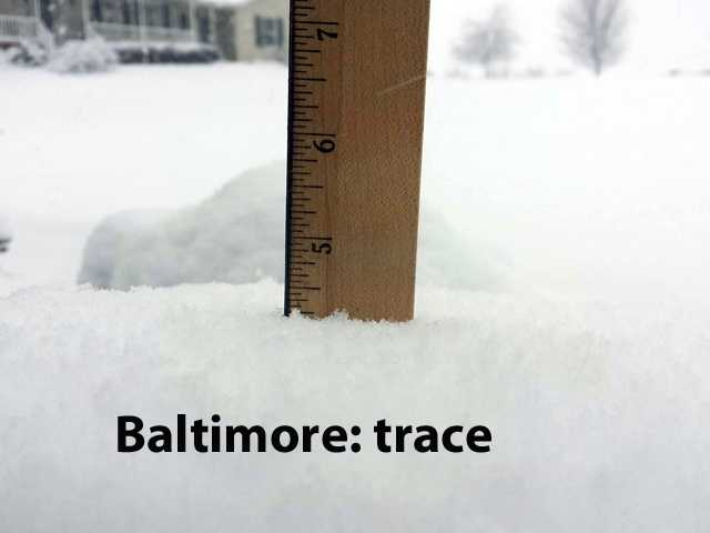 The following measurements come from the National Weather Service.