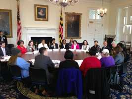 April 1: Lt. Gov. Anthony Brown holds a minimum wage round table discussion.
