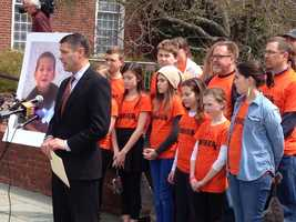 April 2: Officials urge the passing of Jake's Law outside the State House in Annapolis.