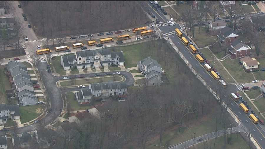 Students are being evacuated from the school via bus and will be taken to Baltimore Polytechnic Institute's auditorium where parents can pick them up. KIPP staff will stay with the students until they are picked up.