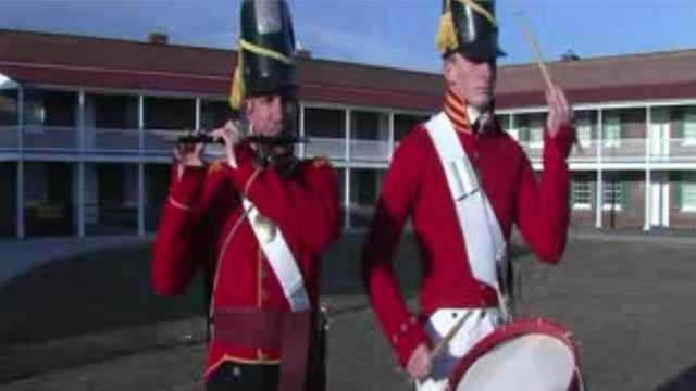 The Fort McHenry Guard Fife and Drum Corps. will take the national stage during the Final Four of the Men's NCAA Basketball Tournament. Pictured here, Tim and Seamus Ertel.