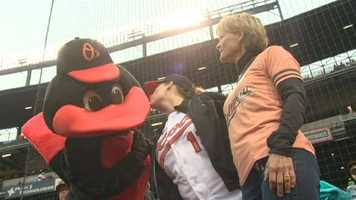 And she even got to hang out with the Oriole bird!