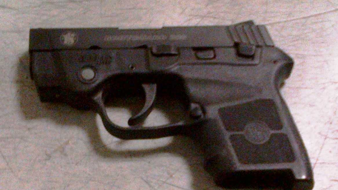 TSA officials say they confiscated this gun from the man at BWI.