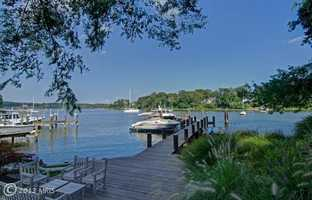 The home also has a private pier and two slips for large boats.
