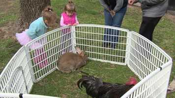 Visitors can also watch the animals enjoy their own Easter treats.