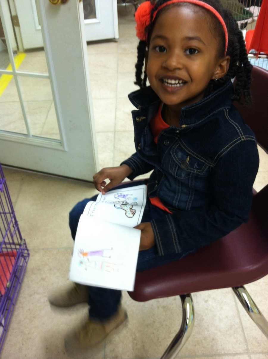Pre-kindergarten students from Sweet Potato Kids, a Randallstown children's community center, visited the Baltimore Humane Society as the no-kill shelter launched its new Read to the Animals program.