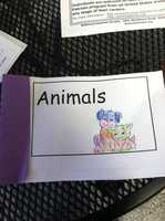 The children made their own books and read them to several homeless dogs, cats and rabbits.