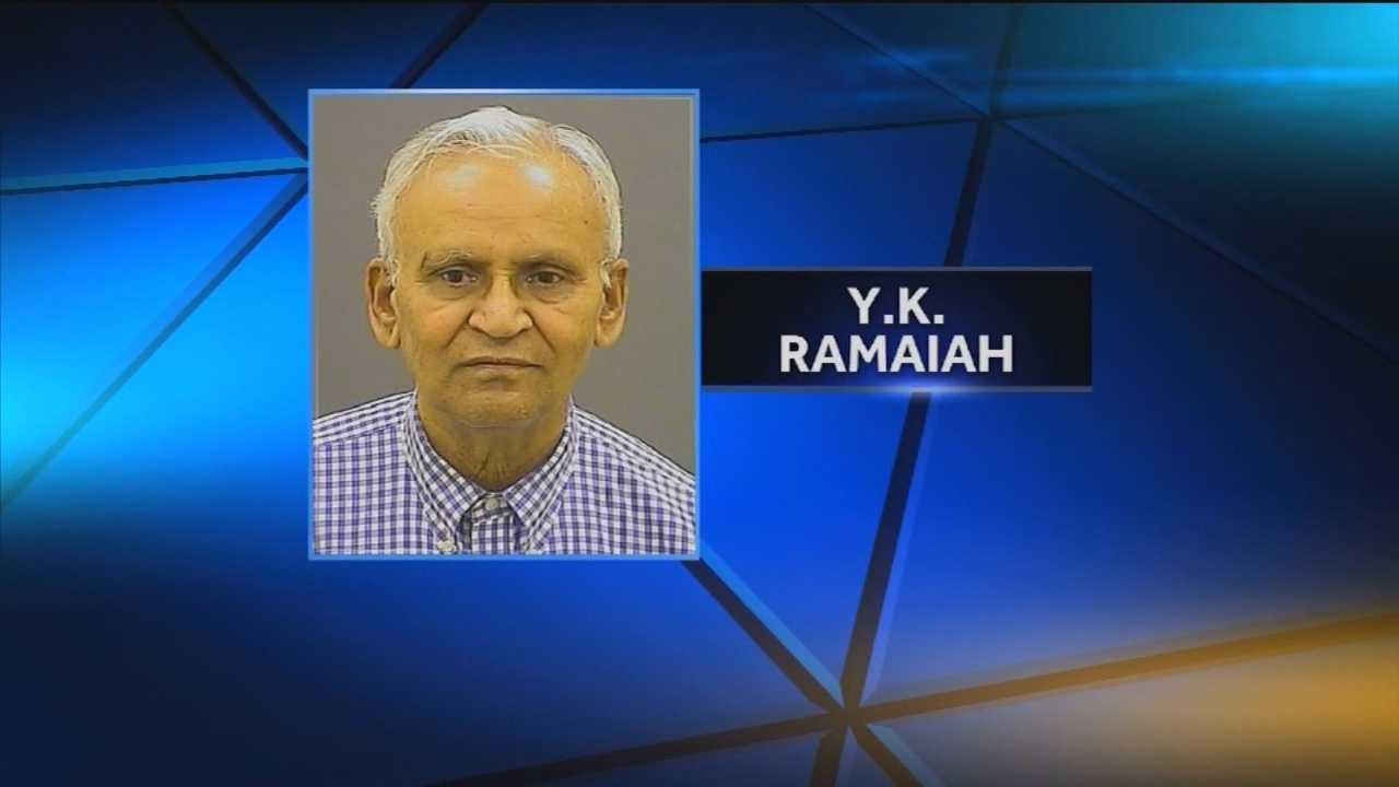 Police said Dr. Y.K. Ramaiah, 75, was arrested on sexual offense and assault charges after a patient alleged that he touched her inappropriately.