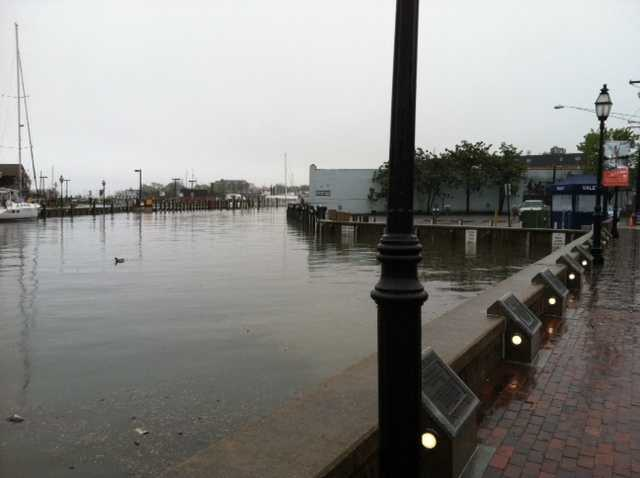 Days of steady rain soaks much of Maryland, leaving behind ponding and flooding in some areas.