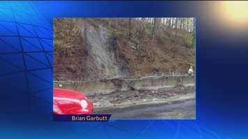 A mini landslide is reported on Route 40 in Howard County.