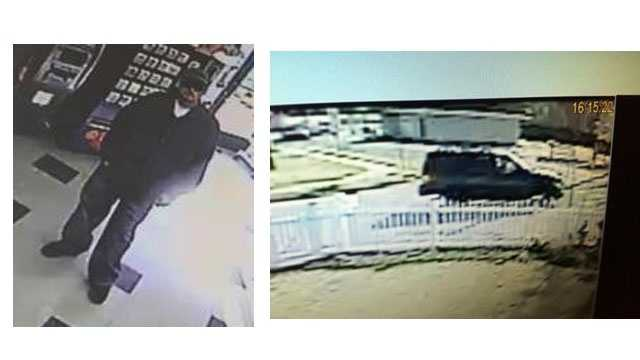Police say this man got away in this vehicle after robbing Luckie's convenience store in Glen Burnie.