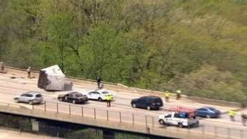A truck has fallen from an Interstate 95 bridge at the Baltimore-Howard county line.
