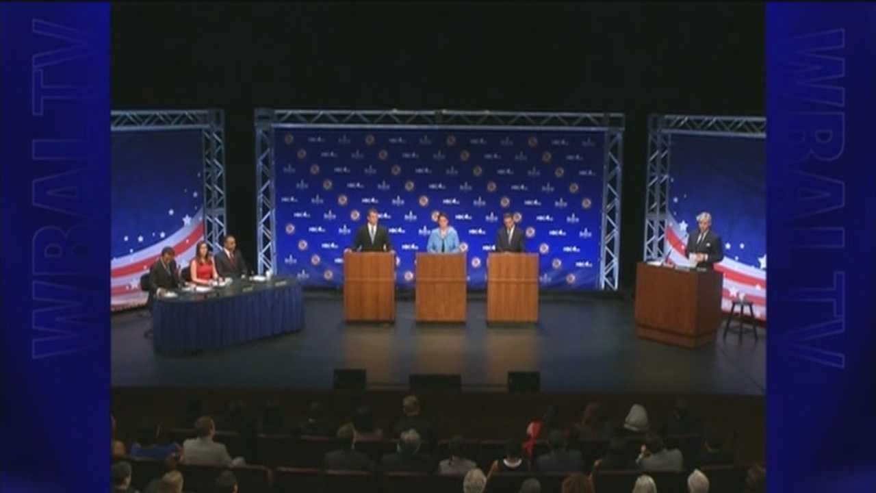 The three main candidates running in the Democratic primary for Maryland governor in 2014 face off in the first of three debates.