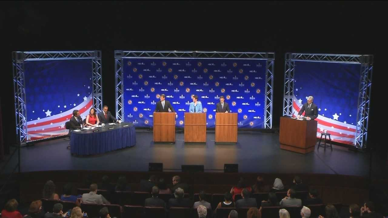 The candidates for governor spar over health care, the death penalty, leadership and character, but not everything that was said was true.