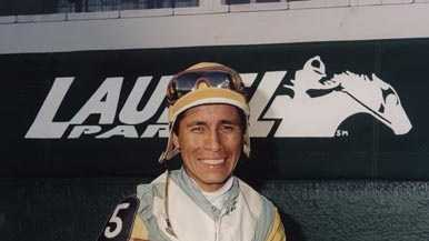 May 13: Edgar Prado takes his first steps toward the Hall of Fame with a decade of dominance on the Maryland circuit and has been no stranger to Pimlico Race Course since he left in 1999.
