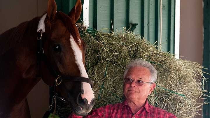 May 13: Trainer Art Sherman arrived at Pimlico Race Course Tuesday afternoon, reuniting with California Chrome, his Kentucky Derby winner and likely heavy favorite for Saturday's 139th running of the Preakness Stakes.