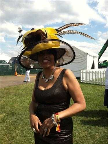 May 17: Baltimore Mayor Stephanie Rawlings-Blake at Pimlico with Gerry Sandusky and Donna Hamilton