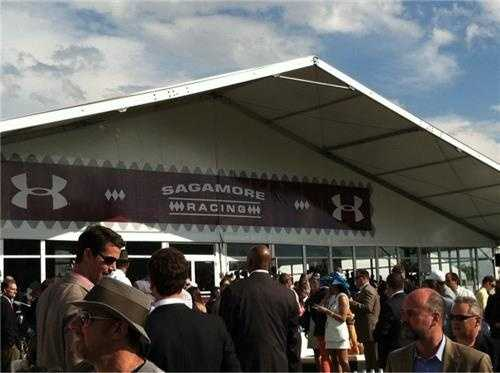 Under Armour -- The most exclusive tent at Preakness Corporate Village