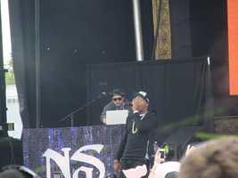 Rapper Nas performs for InField Fest. This year marks the 20th anniversary of his debut album, Illmatic.