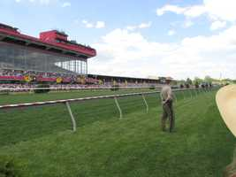 One of the turf races kicks off.