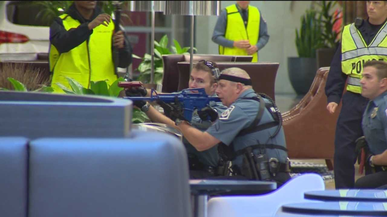 Anne Arundel County police, fire and other emergency officials spent Sunday morning in a tense situation at the Westfield Annapolis Mall, but it was all part of an important drill.