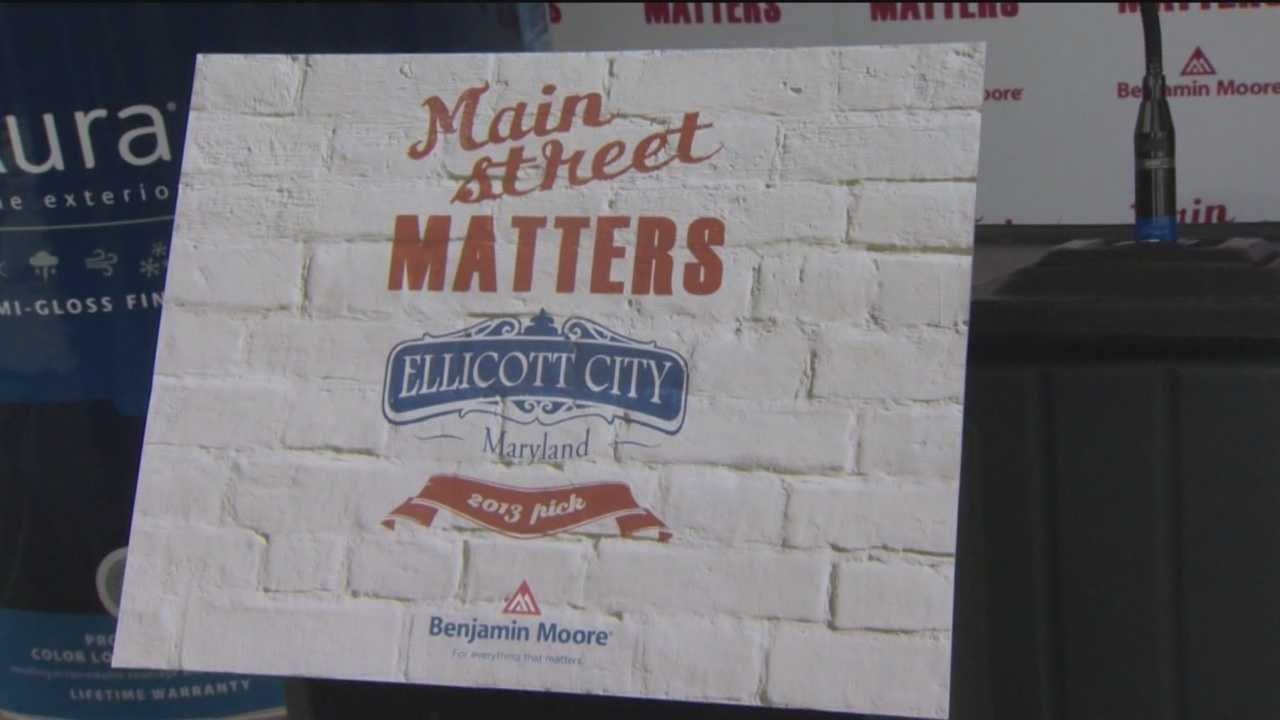 Ellicott City is one of 20 communities across the U.S. and Canada selected by Benjamin Moore to receive a paint job.