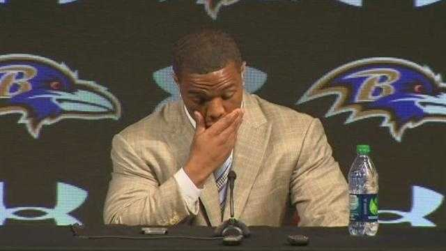 Ray Rice speaks publicly for the first time since his being charged with his wife's assault in Atlantic City.