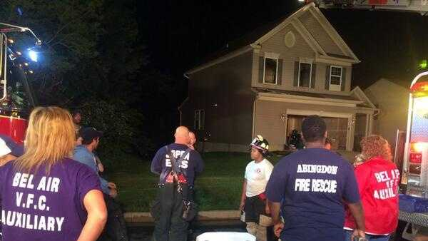 A fire heavily damages a home in Abingdon.