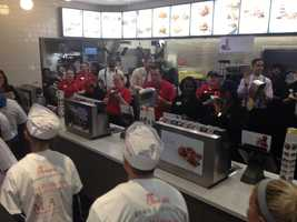 The promotion equals about $30,000 in free food, store officials said.