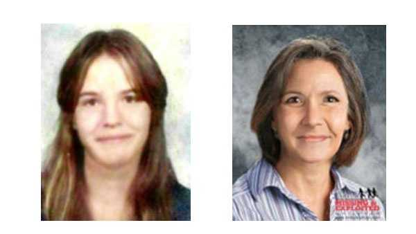 Karen Beth Kamsch (pictured left) at the time of her disappearance at age 14 would look like the picture on the right at age 52, police said.