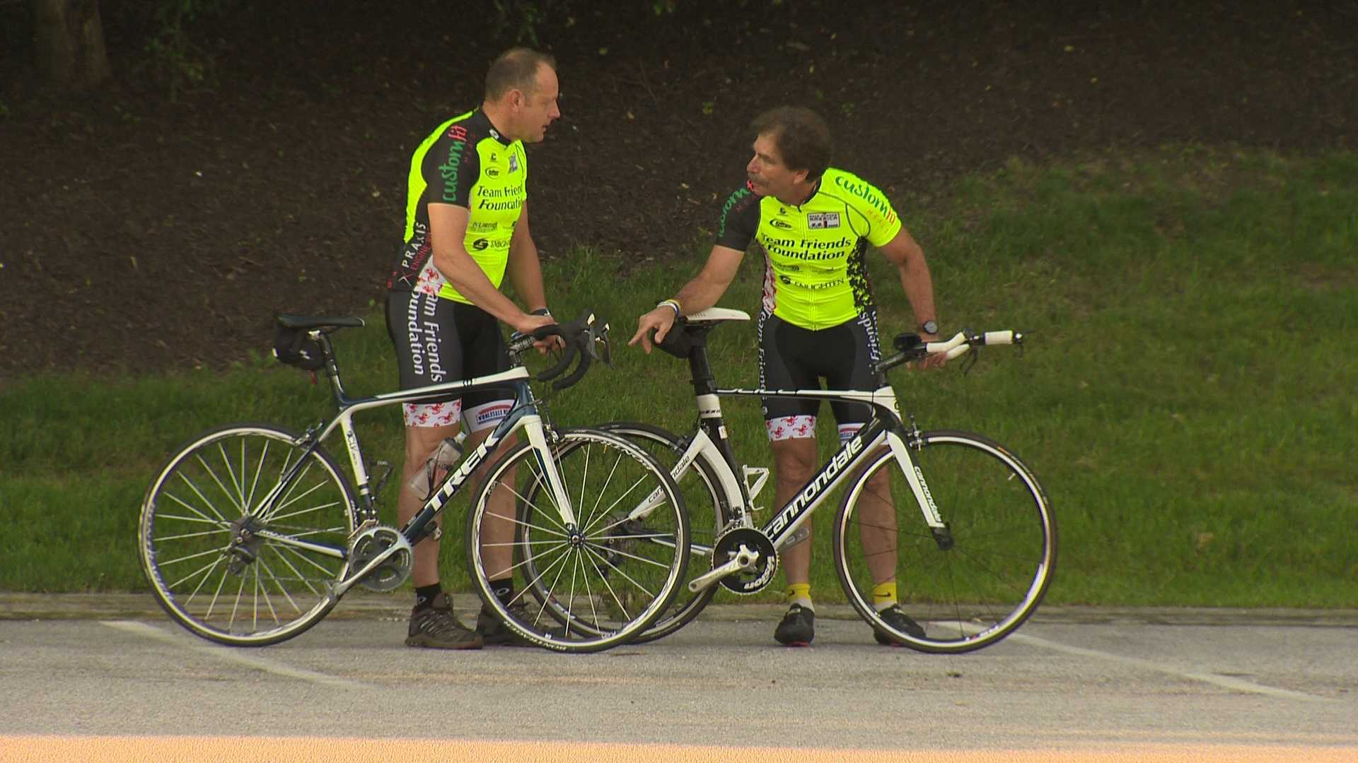 Leo Pruissen and Dr. Barnaby Starr plan to take part in Race Across America to raise money for the Friends Foundation.
