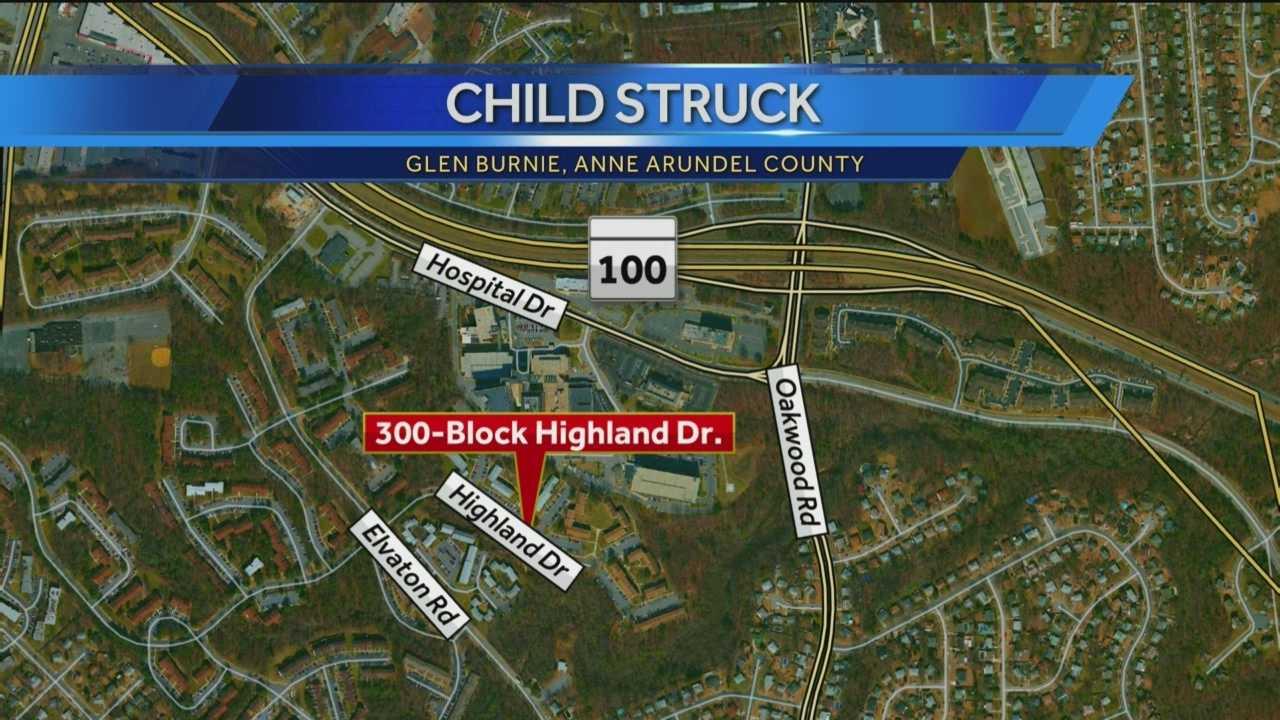 Glen Burnie child hit by car