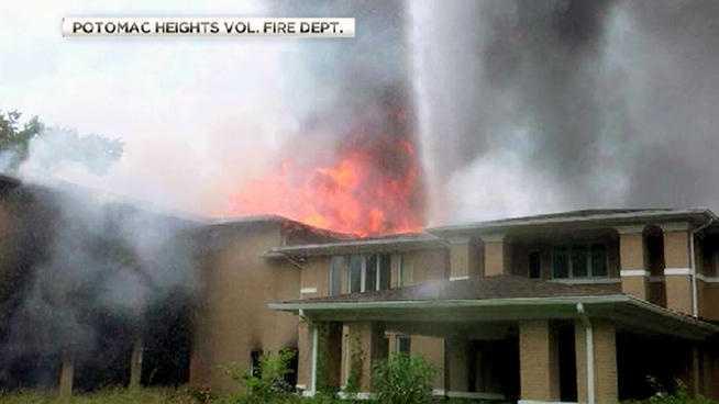 Potomac Heights mansion fire