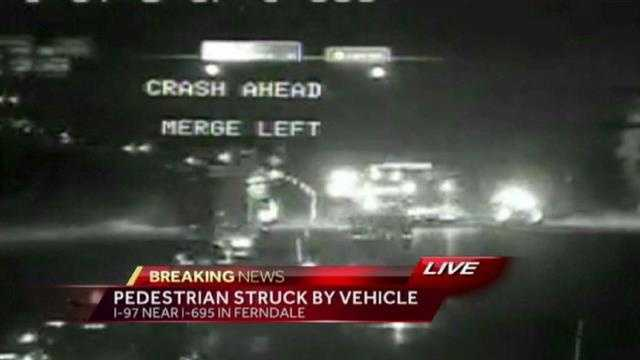I-97 traffic cam crash scene