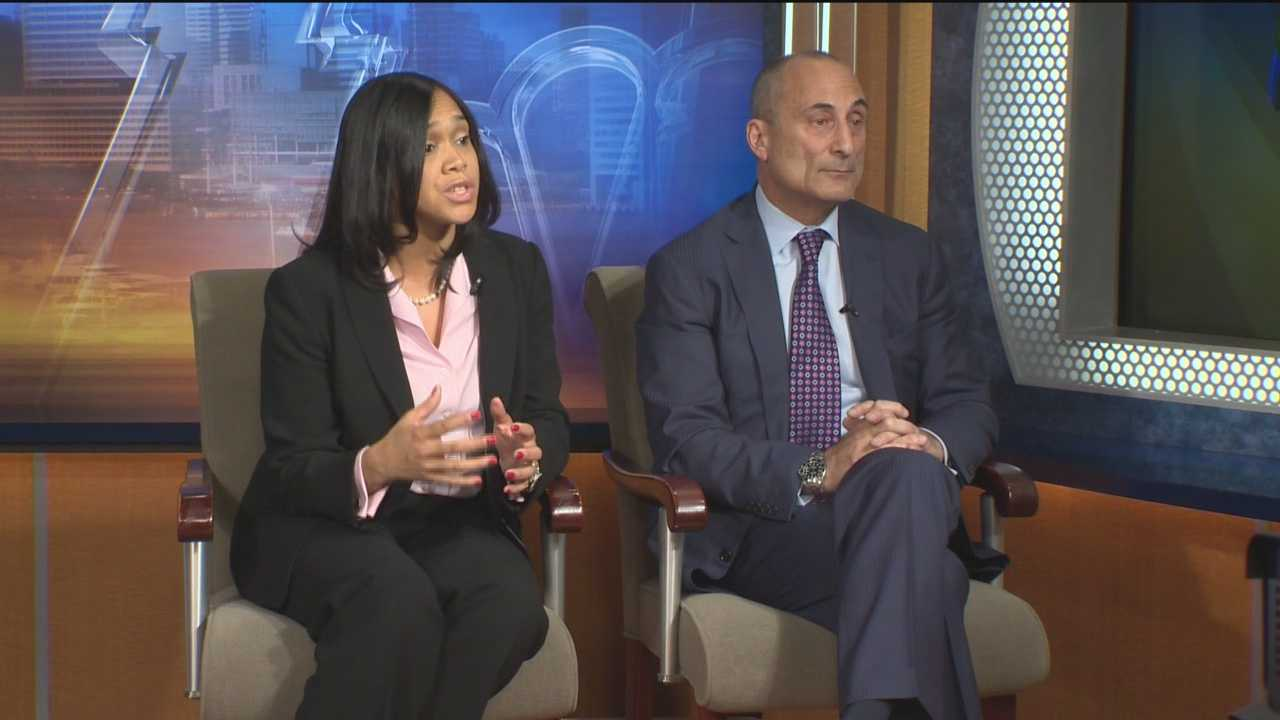 Marilyn Mosby and Gregg Bernstein debate as they vie for the office of the Baltimore City state's attorney.