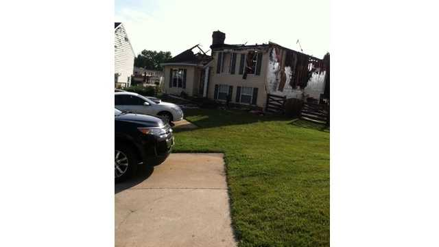 A fire that may have been sparked by lightning destroys a house on Bogby Court in Middle River.
