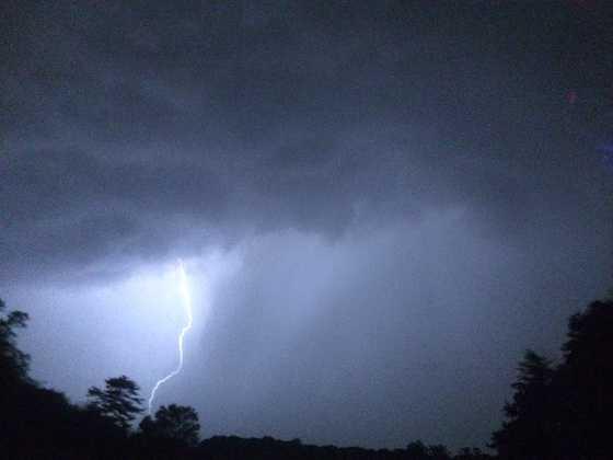 Lightning over White Marsh