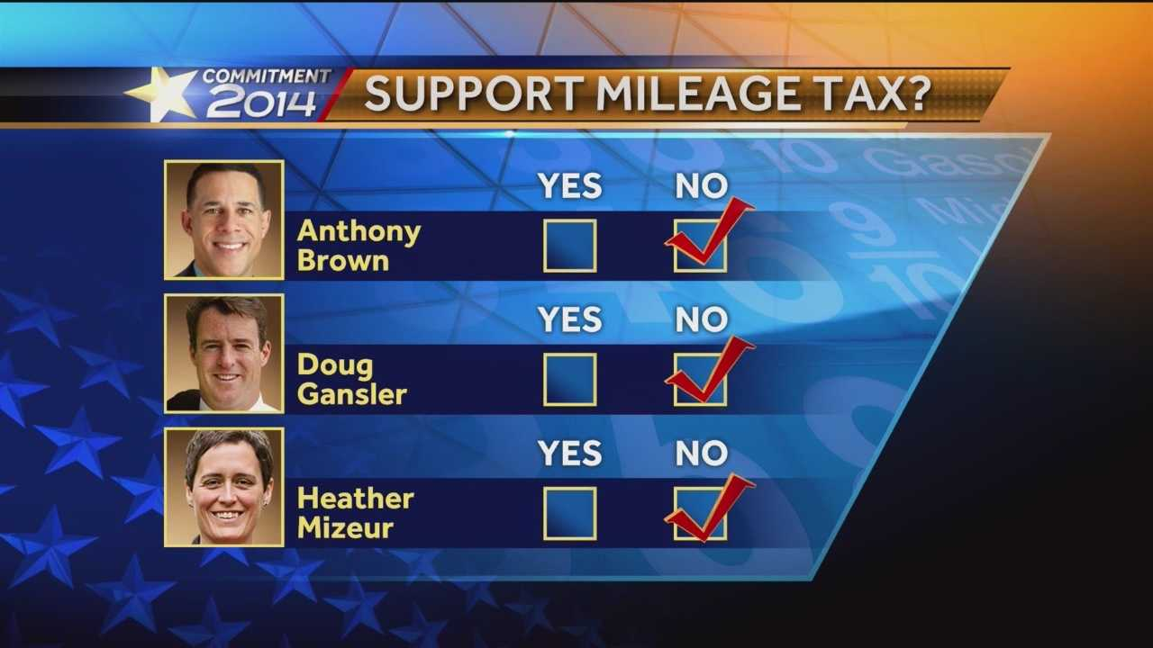 A proposal to tax vehicle miles traveled is intended to cut vehicle emissions in that the more you drive, the more you'd pay. But the idea doesn't have the support of the candidates for governor.