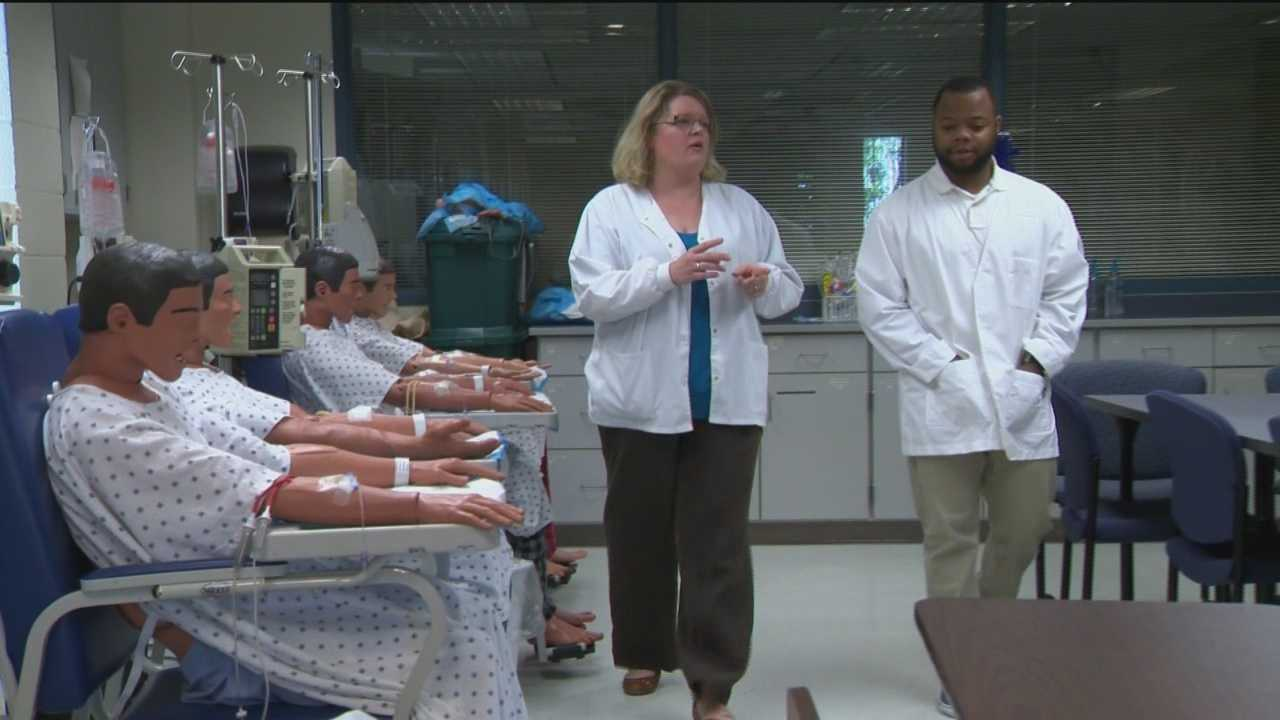 A program at the Community College of Baltimore County aims to help prepare students to get into the touch nursing program.