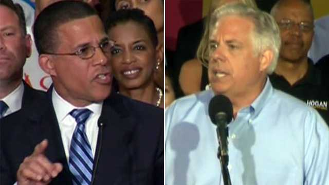 Anthony Brown (left), Larry Hogan (right)