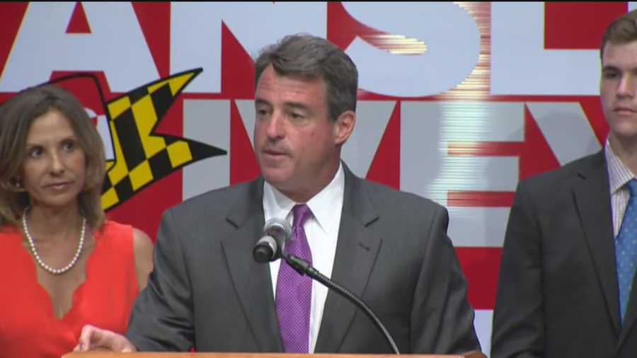 """In his concession speech, Gansler acknowledged that he and Brown went head to head during many of the debates but he called Brown to congratulate him.""""We fell short today not from a lack of hard work or conviction or dedication. We worked hard. We all worked hard. But tomorrow we wake up, we shake off the dust and we each do what we can to help others build a better life here in Maryland,"""" Gansler said."""