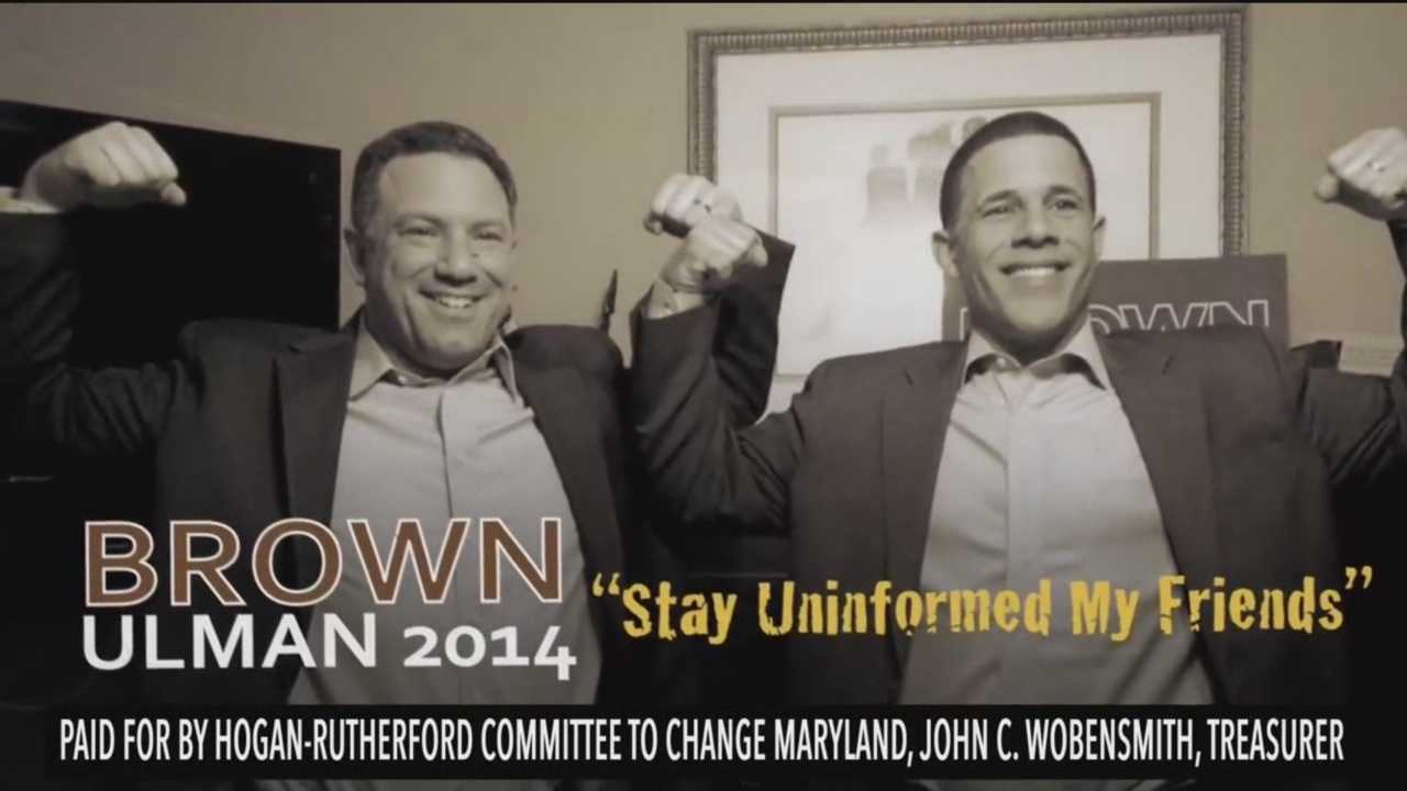 Republican nominee Larry Hogan is going for the jugular in a new Internet ad calling Democratic nominee Lt. Gov. Anthony Brown incompetent.