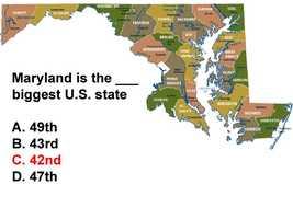 According to the U.S. Census Bureau, Maryland spans9,707 square miles.