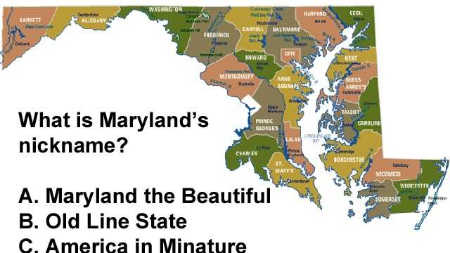 Can You Pass This Elementary Maryland Geography Quiz