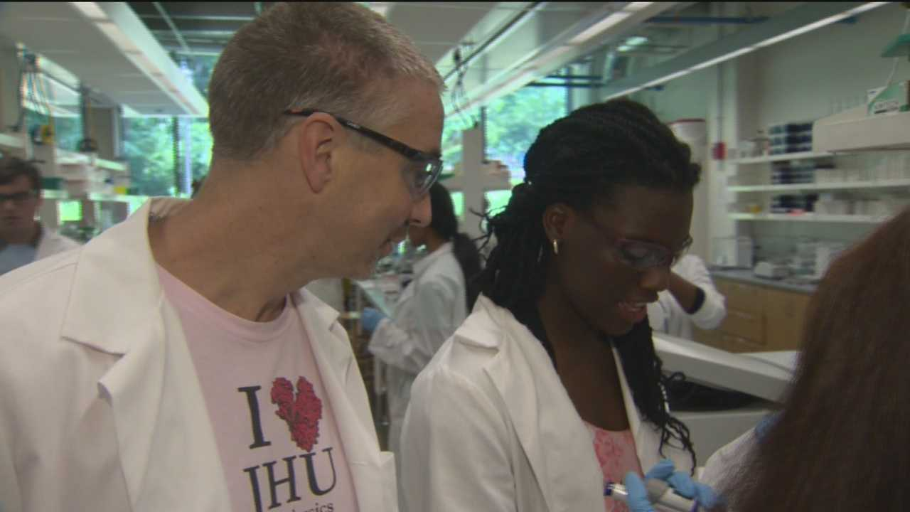 Baltimore City High School students are spending the better part of their summer in a state-of-the-art science lab as part of a science boot camp with Johns Hopkins University.
