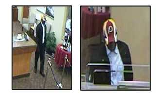 The FBI Cross Border Task Force is offering a $5,000 reward for information leading to the arrest of a serial bank robber who struck at banks in Prince George's County and the District of Columbia. Pictured here is the BB&T Bank robbery on May 29.