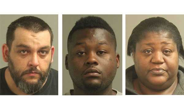 Police say Thomas Conway (left) was arrested in connection with a drug bust in Glen Burnie, while Ryan Bowie (middle) and Tracey Green-Bowie (right) were arrested in connection with a separate drug bust in Brooklyn Park.