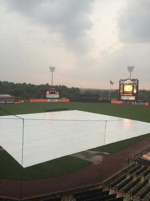 The Iron Birds sent to WBAL-TV this photo from the stadium in Aberdeen.